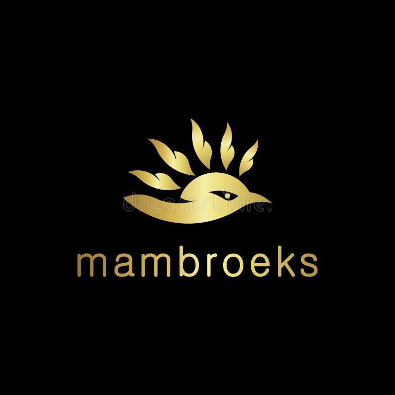 Conception du logo de Mambruk bird pour l'Indonésie illustration stock