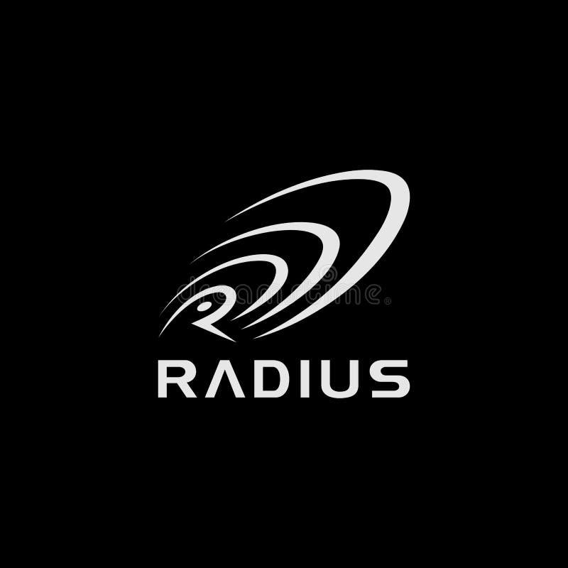 Conception du logo Radius illustration de vecteur