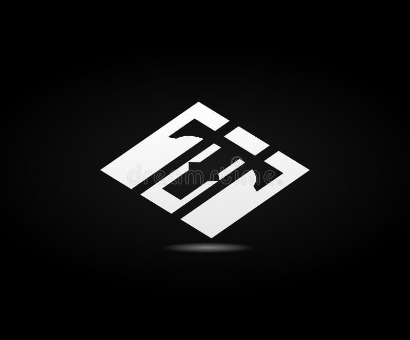 Conception du logo T illustration stock