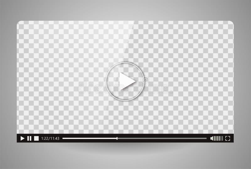 Conception du magnétoscope Barre de jeu de media de film d'interface photographie stock libre de droits