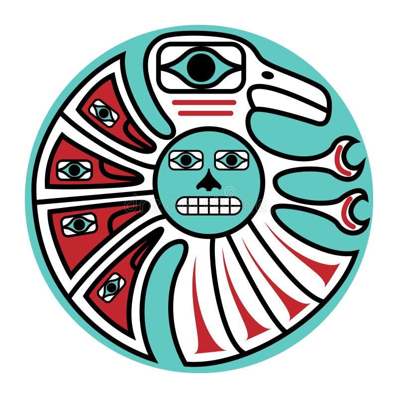 Conception du nord-ouest Pacifique illustration libre de droits