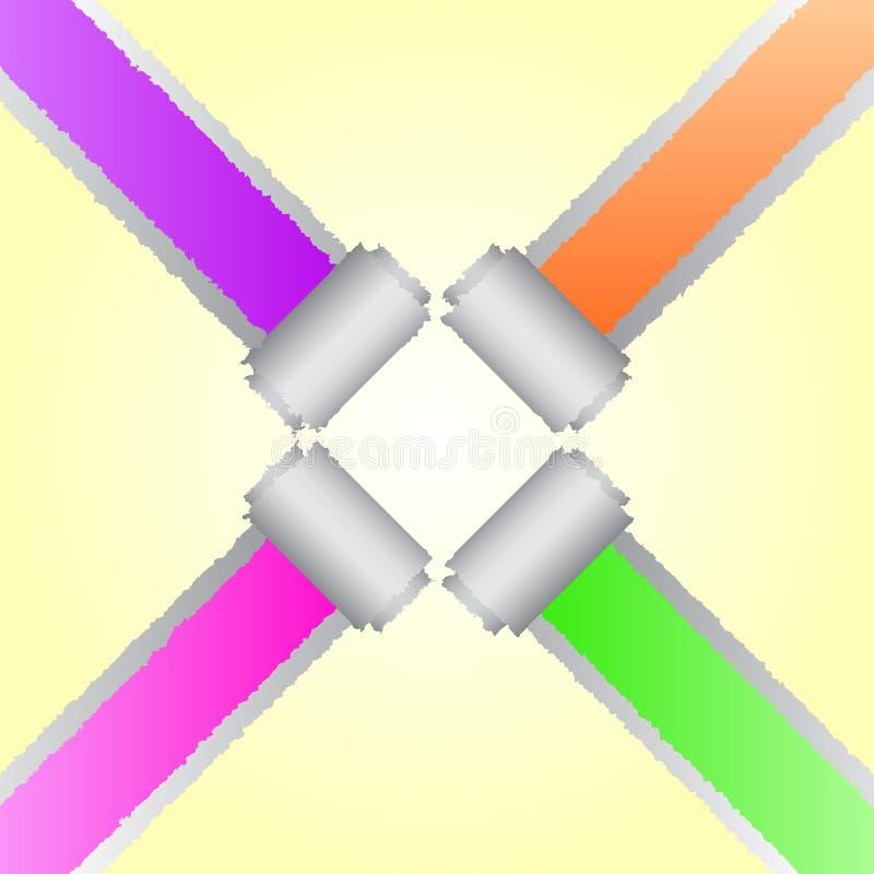 Conception du papier faisant le coin de couleur de larme illustration de vecteur