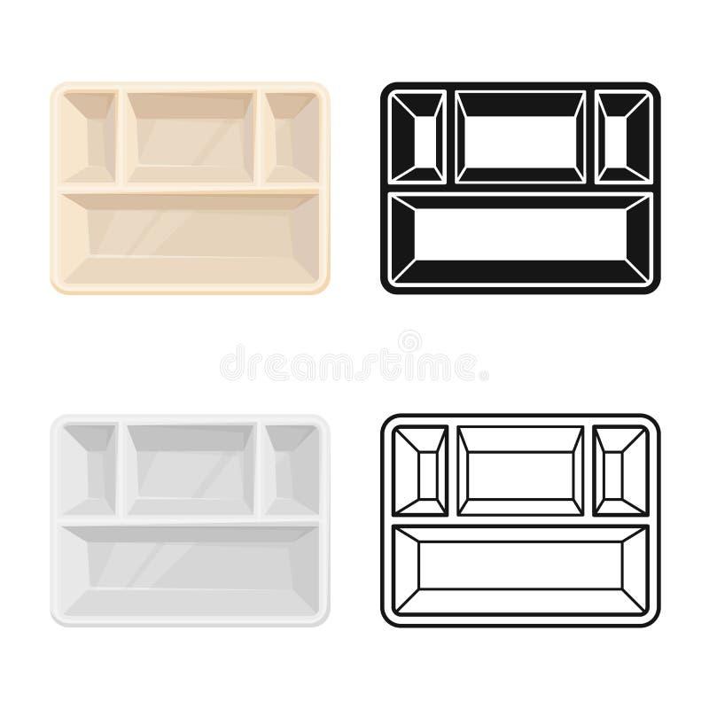 Conception du vecteur du logo du conteneur et du carton. Illustration de l'élément Web du vecteur conteneur et du stock alimenta illustration de vecteur
