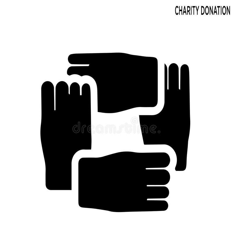 Conception editable de symbole d'icône de donation de charité illustration stock