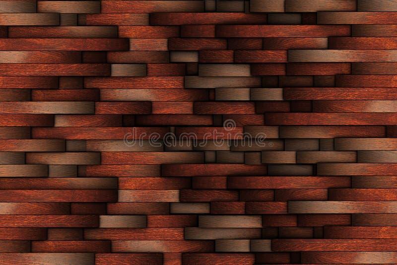 Conception en bois abstraite d'acajou de mur photos libres de droits