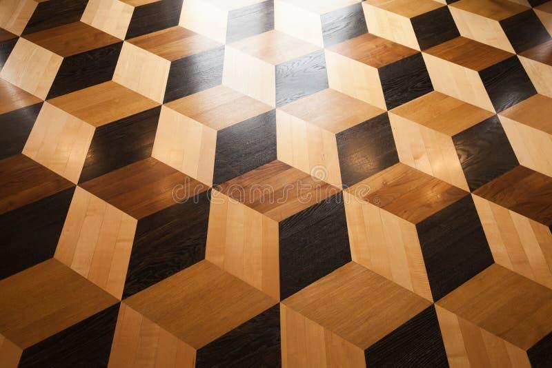 Conception en bois brillante de parquet photographie stock libre de droits