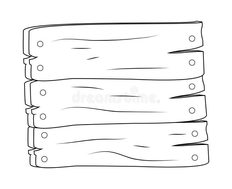 Conception en bois d'icône de symbole de vecteur de signe de plaque Bel illustra illustration libre de droits