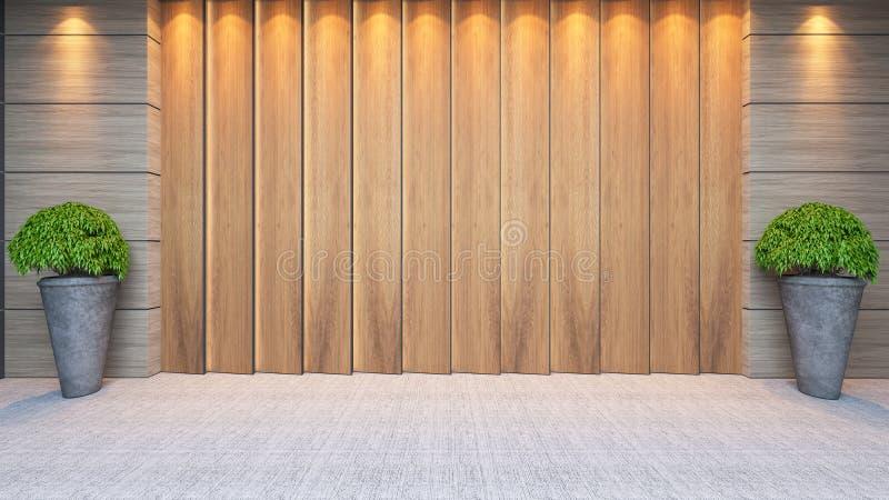 Conception en bois de décor de mur de panneau photographie stock libre de droits