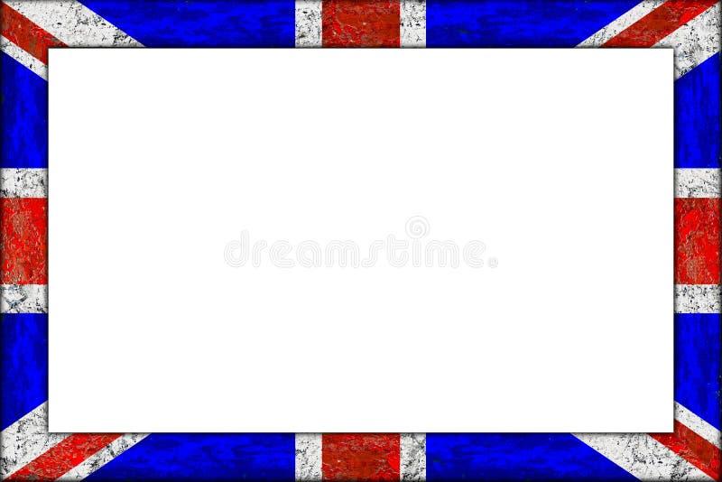 Conception en bois vide de drapeau de cric des syndicats de cadre de tableau image stock
