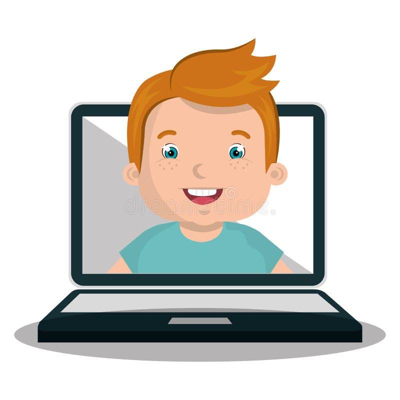 conception en ligne d'enfants illustration stock