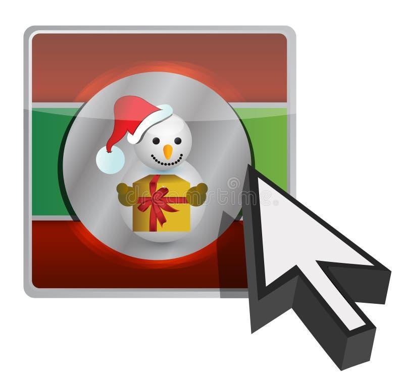 Conception en ligne d'illustration de bouton de Noël illustration de vecteur