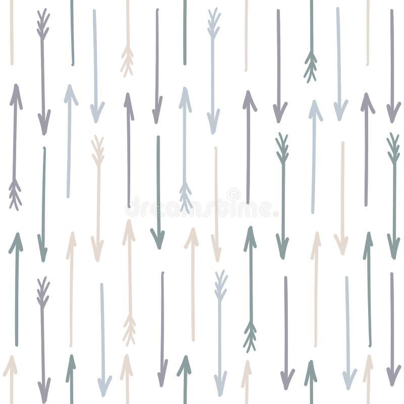 Conception en pastel sans couture de modèle de flèche Vecteur illustration libre de droits