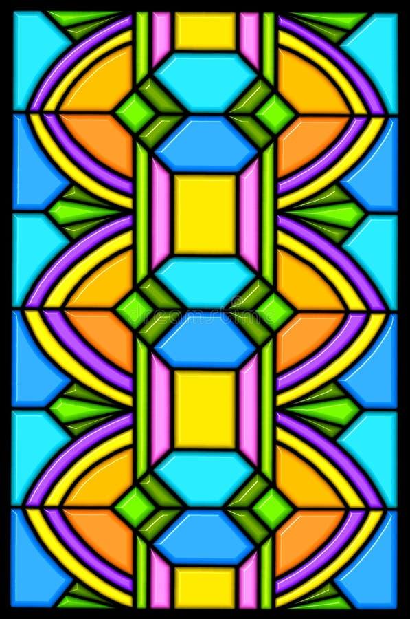 Conception en verre de souillure d'art déco illustration de vecteur