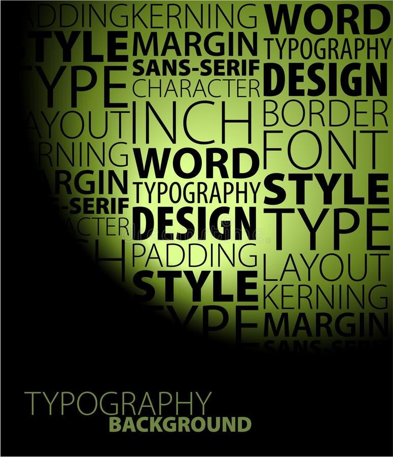 Conception et fond de typographie illustration de vecteur