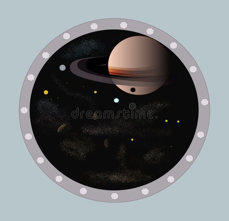 Conception et galaxies de planète images libres de droits