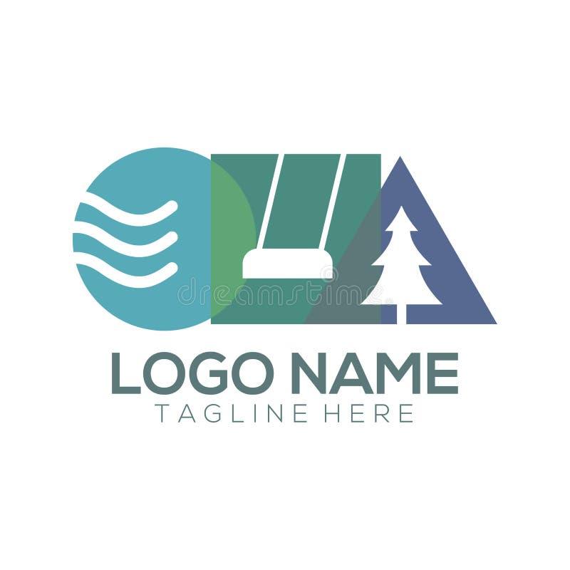 Conception et icône de logo de jeu et de récréation illustration de vecteur