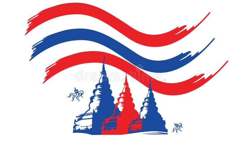 conception et icône de la Thaïlande Bouddha photographie stock libre de droits