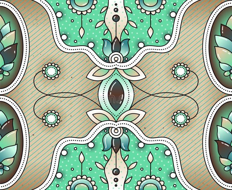 Conception ethnique Configuration indienne Origine ethnique Configuration de vecteur illustration libre de droits