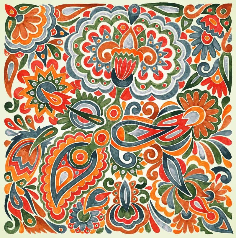 Conception ethnique florale illustration de vecteur