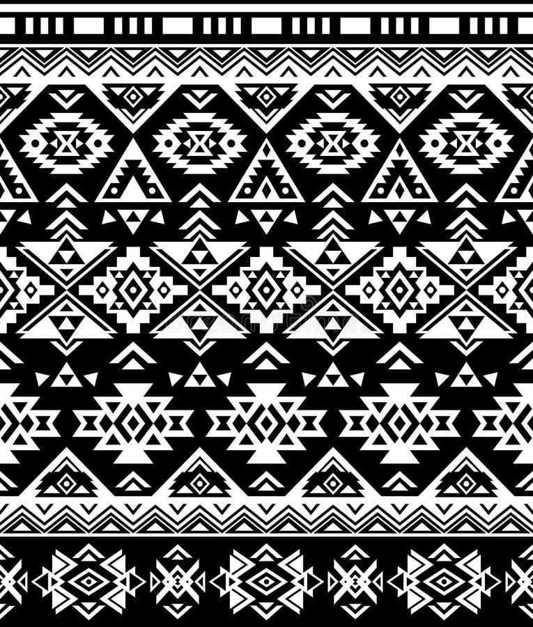 Conception ethnique sans couture de modèle Copie géométrique de Navajo Ornement décoratif rustique Configuration géométrique abst illustration de vecteur