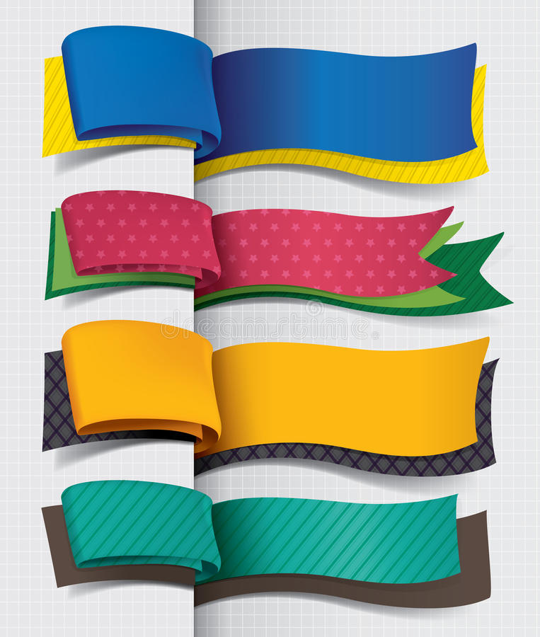Conception exclusive de drapeau illustration libre de droits