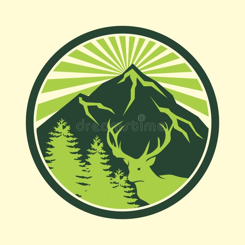 Conception extérieure de logo d'aventure image stock