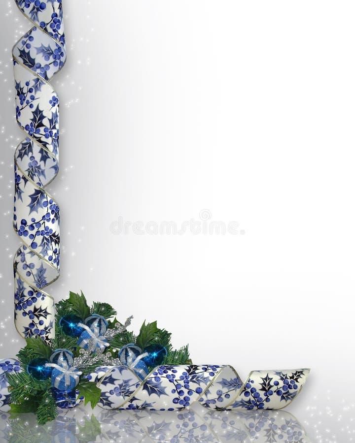 Conception faisante le coin bleue de Noël illustration stock