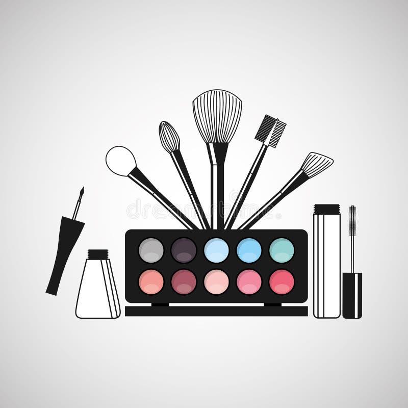 conception femelle de maquillage illustration libre de droits