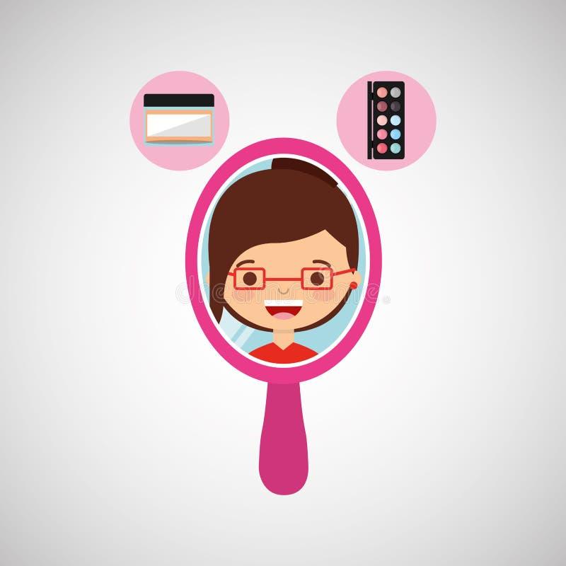 conception femelle de maquillage illustration stock