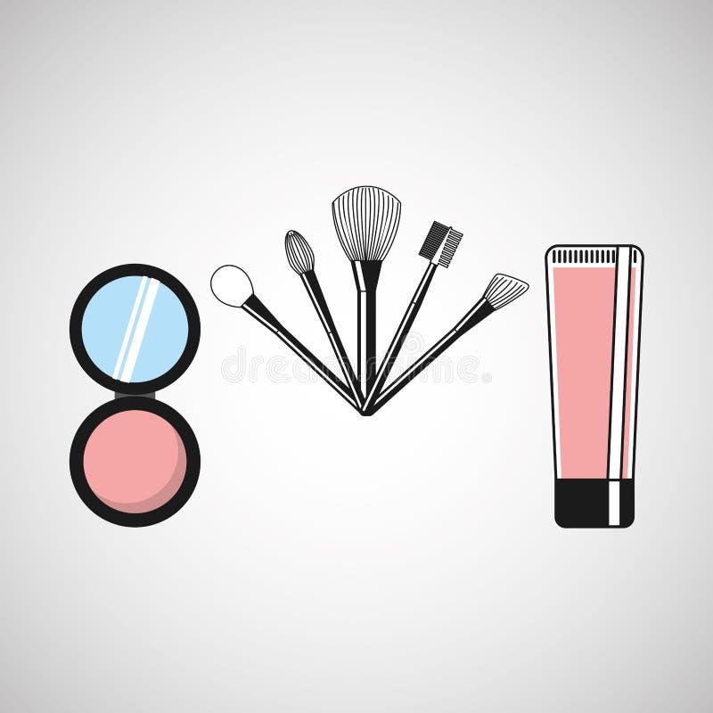 conception femelle de maquillage illustration de vecteur