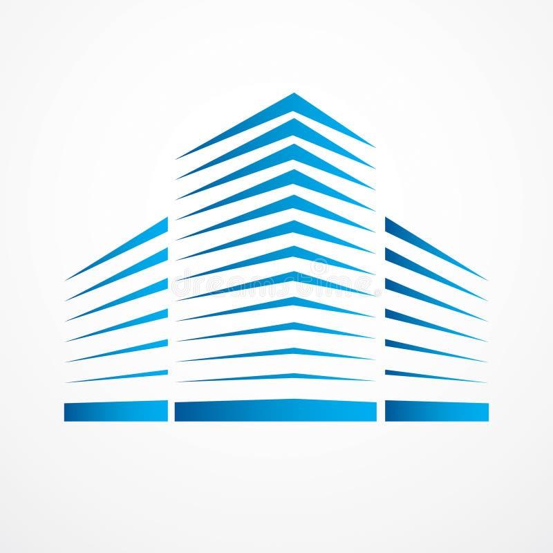 Conception financière de vecteur de bureau d'affaires de bâtiment de ville Futuristi illustration stock