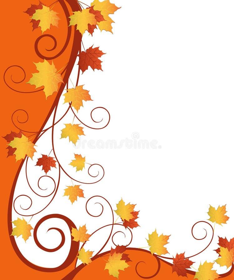 Conception fleurie d'automne image stock