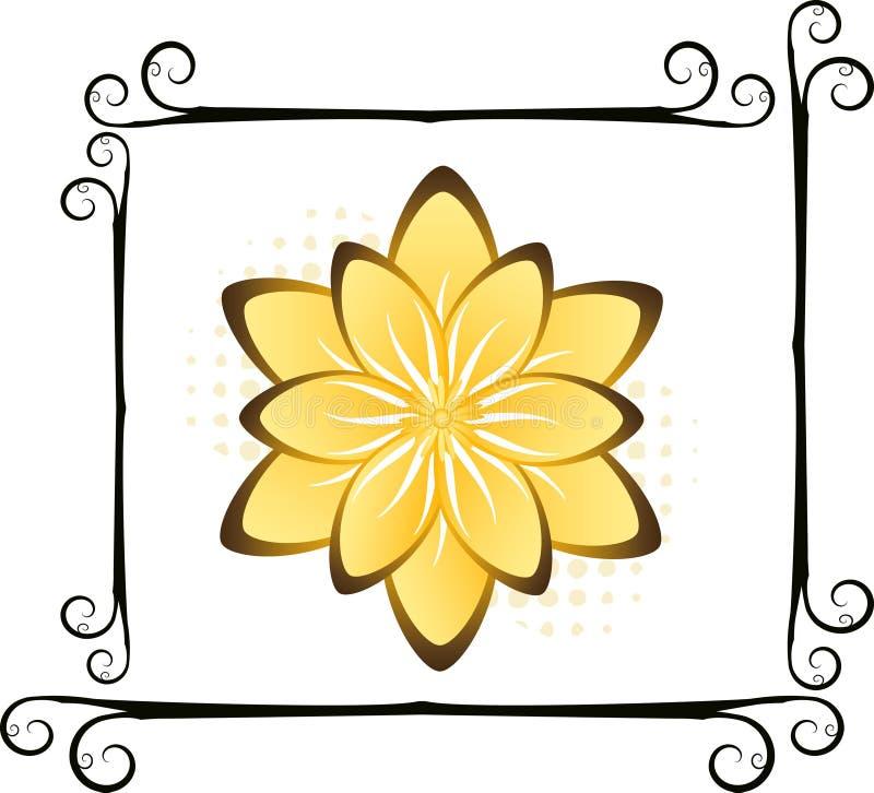 Conception florale illustration stock