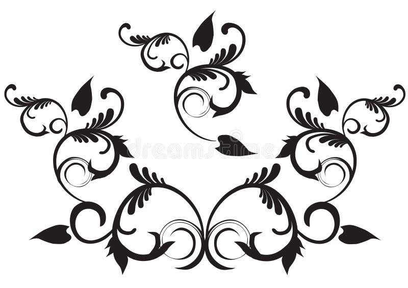 conception florale illustration de vecteur