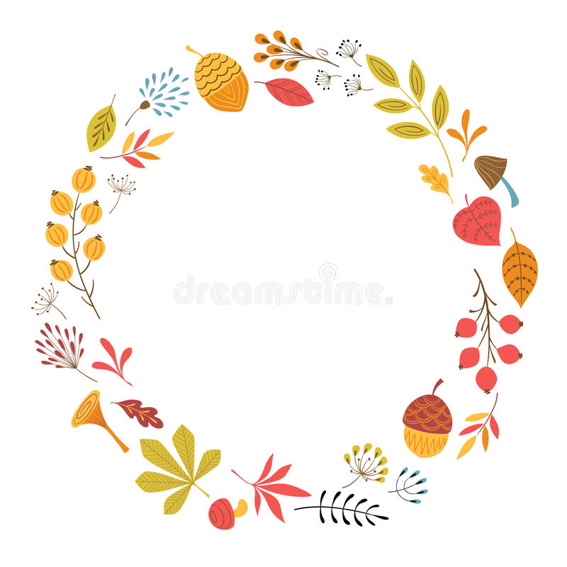 Conception florale d'automne illustration libre de droits