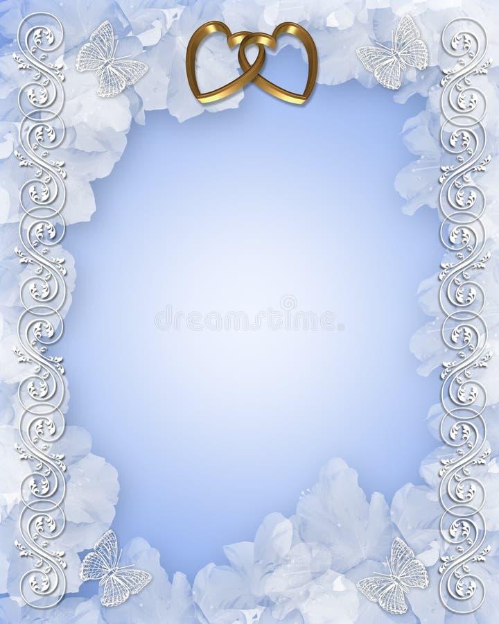 Conception florale d'invitation de mariage illustration de vecteur