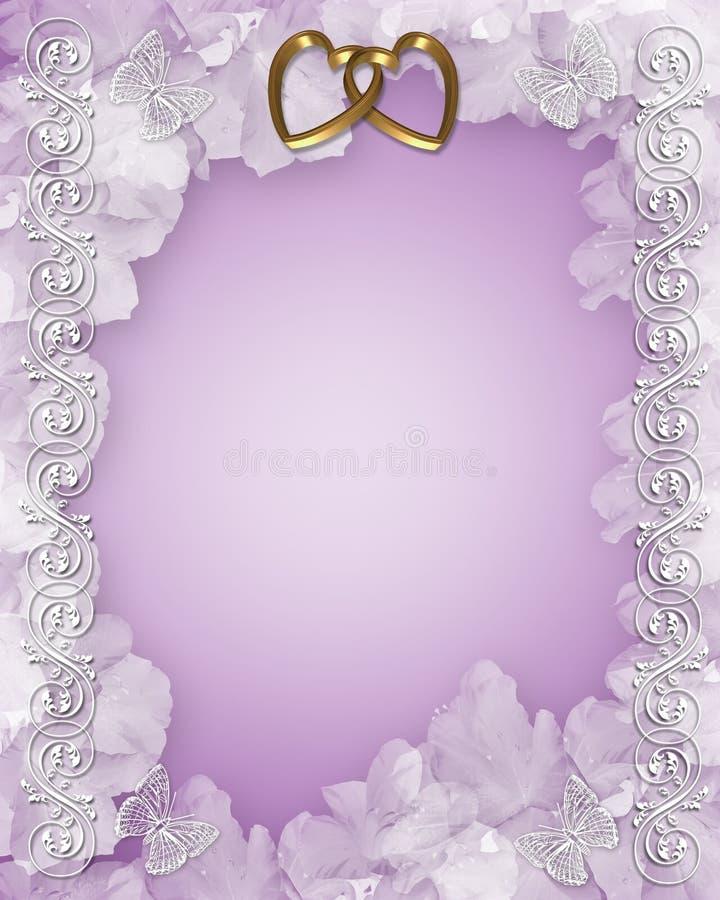 Conception florale d'invitation de mariage illustration stock
