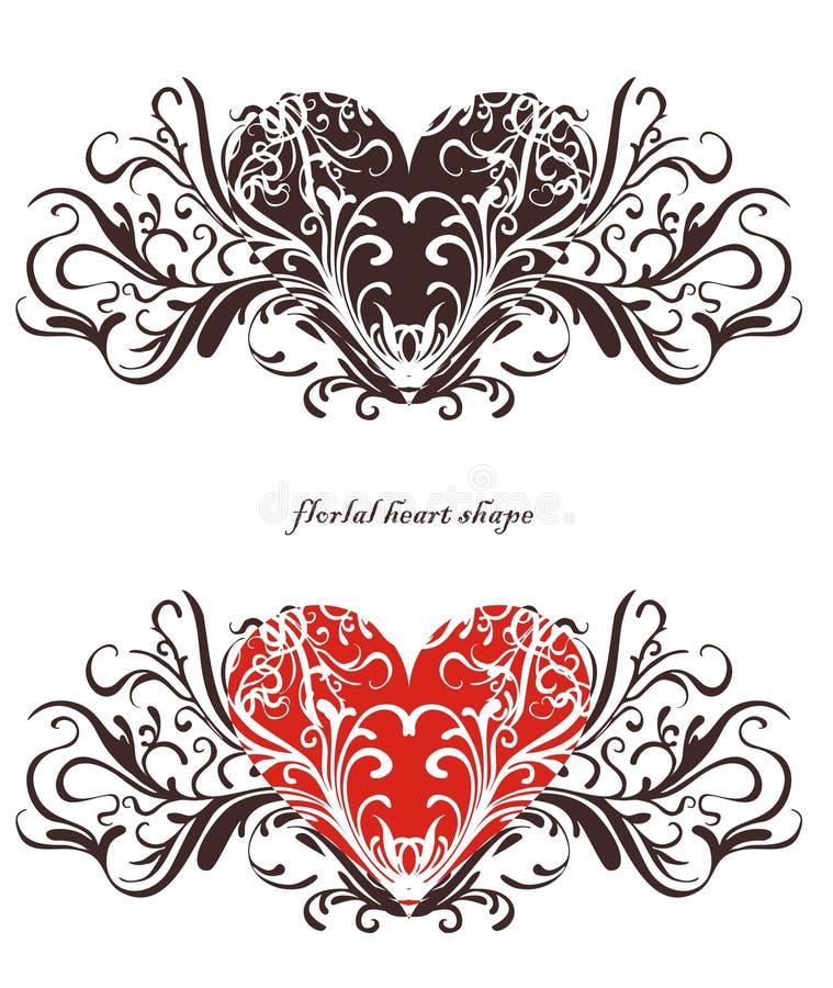 Download Conception Florale De Coeur Illustration de Vecteur - Illustration du retrait, conception: 8668199