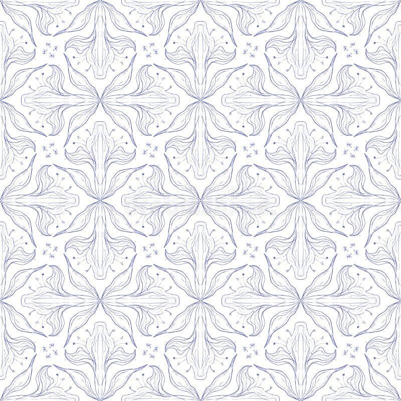 Conception florale de configuration de vecteur de cru illustration de vecteur