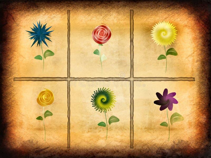 Conception florale de cru illustration de vecteur