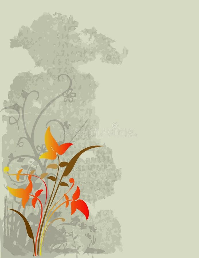 Conception florale de vignes   illustration de vecteur
