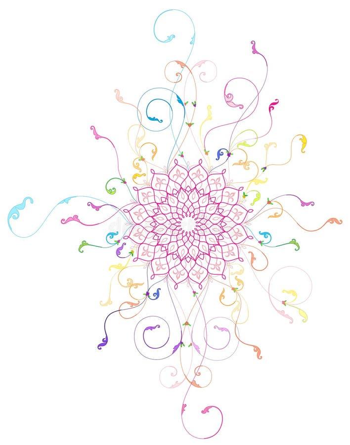 Conception florale moderne - partie illustration de vecteur