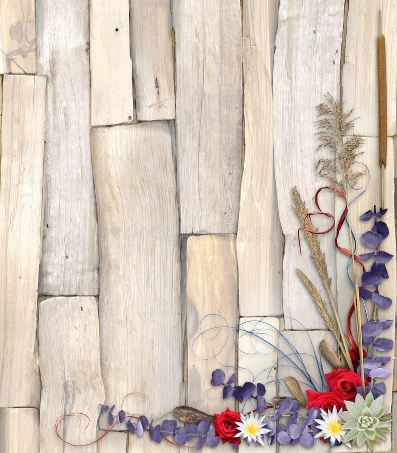 Conception florale organique 2 de fond illustration stock
