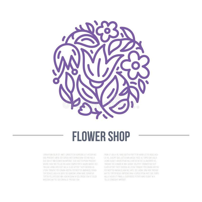 Conception florale pour une boutique illustration stock