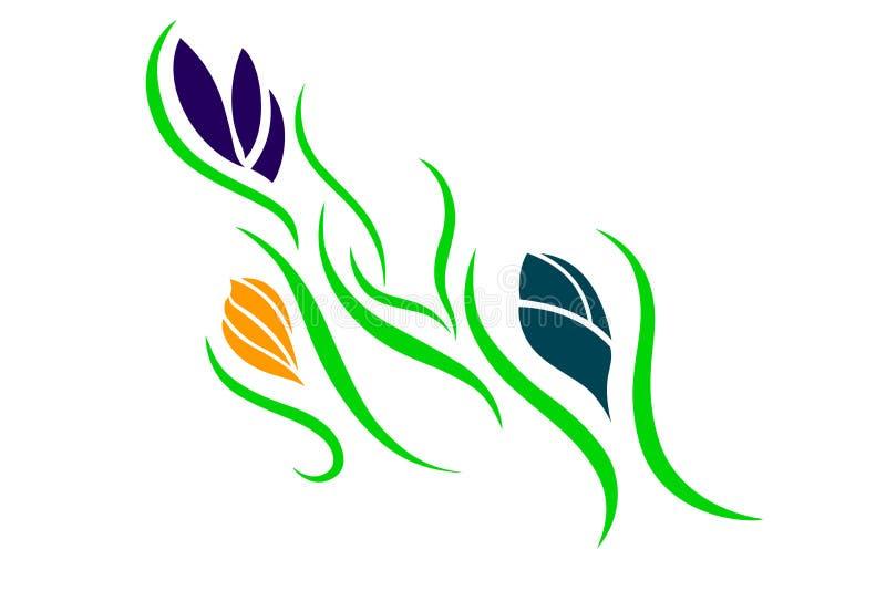 Conception florale simple de vecteur - modèle de fleur illustration libre de droits