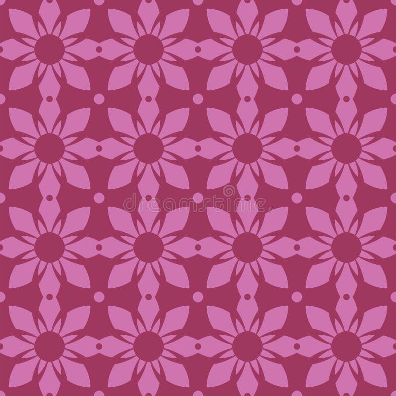 Conception florale symétrique de répétition sans couture illustration de vecteur