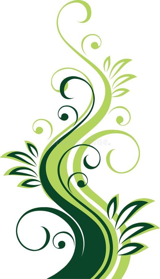 Conception florale verte illustration stock