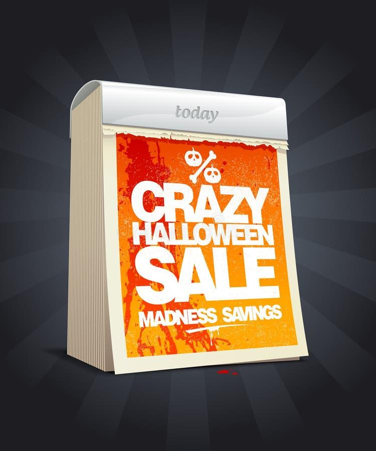 Conception folle de vente de Halloween sous la forme de calendrier. illustration libre de droits