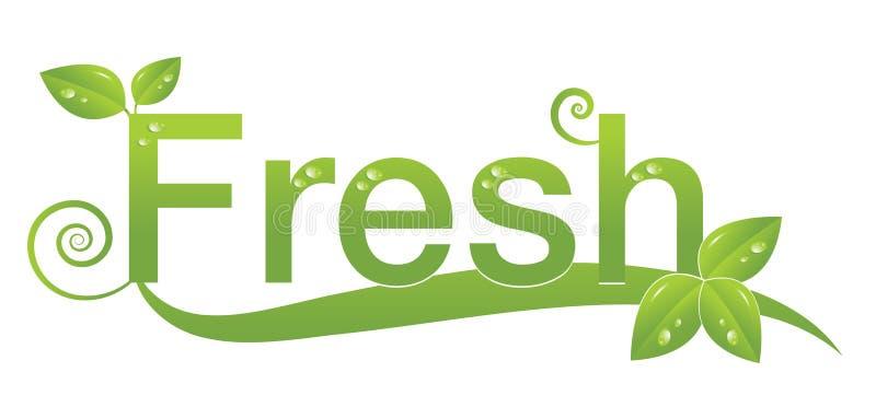 Conception fraîche de logo illustration libre de droits