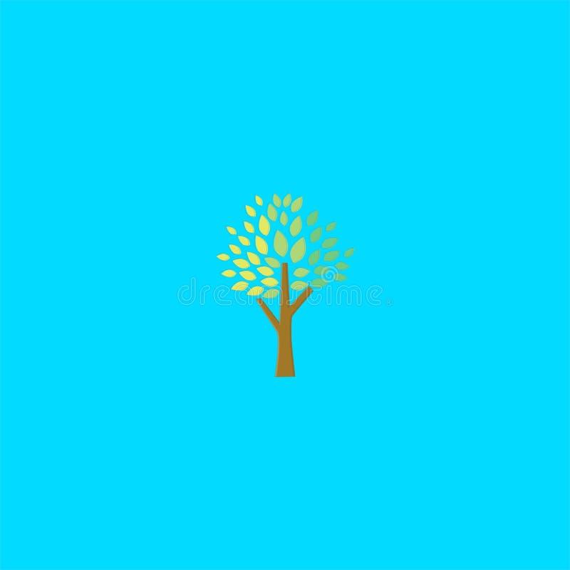 Conception fraîche de logo d'arbre calibre de vecteur d'icône de Dan de symbole illustration libre de droits